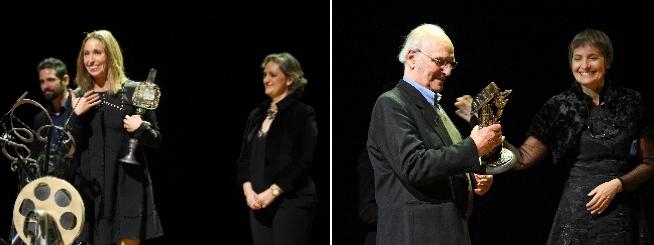 Gemma Mengual recibió uno de los premios, al igual que el director Carlos Saura. / H. Fraile