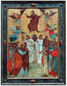 Sobre estas líneas, uno de los iconos del Museo Nacional de Bielorrusia que se exponen en El Greco. / EC